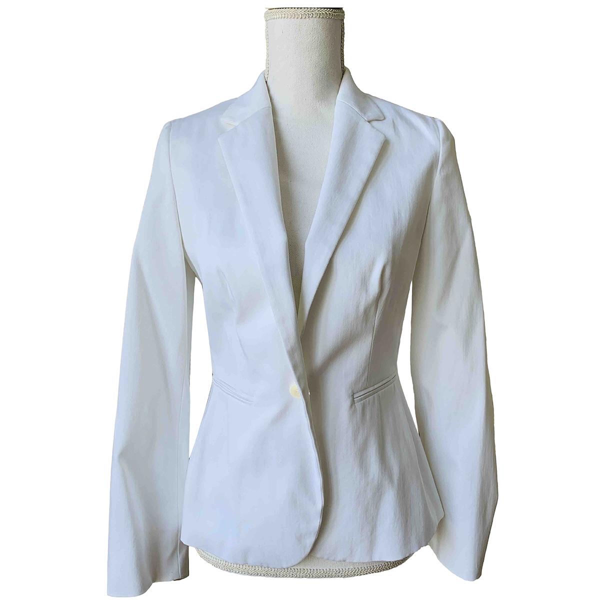 Max Mara \N White Cotton jacket for Women 40 FR