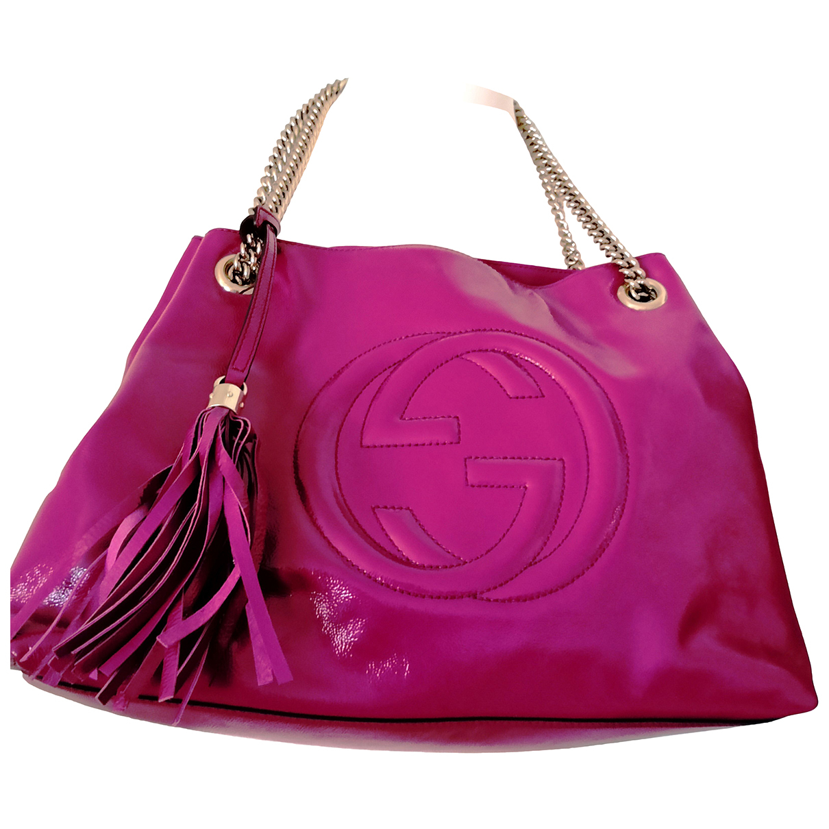 Gucci Soho Pink Patent leather handbag for Women N