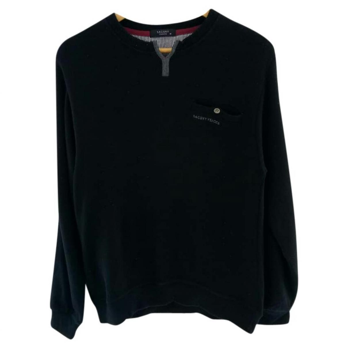 Yohji Yamamoto \N Pullover.Westen.Sweatshirts  in  Schwarz Baumwolle