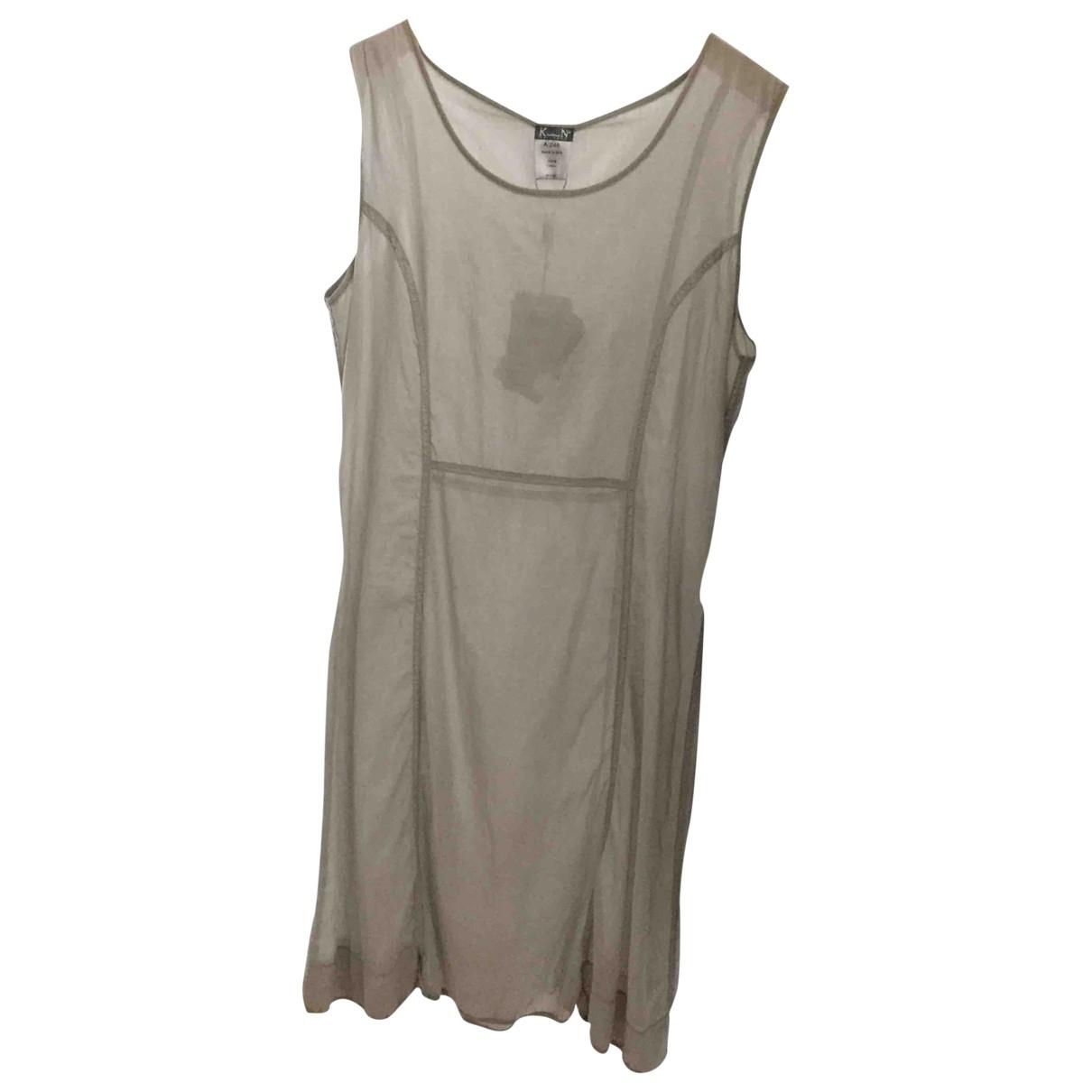 Kristensen Du Nord \N Grey Cotton dress for Women 36 FR