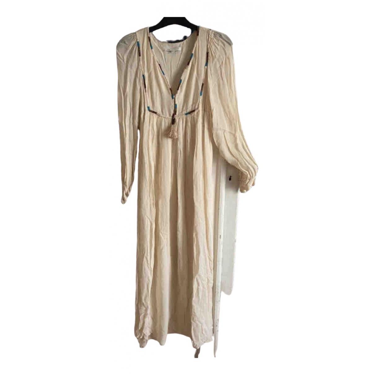 Nina Kauffmann \N Kleid in  Beige Viskose