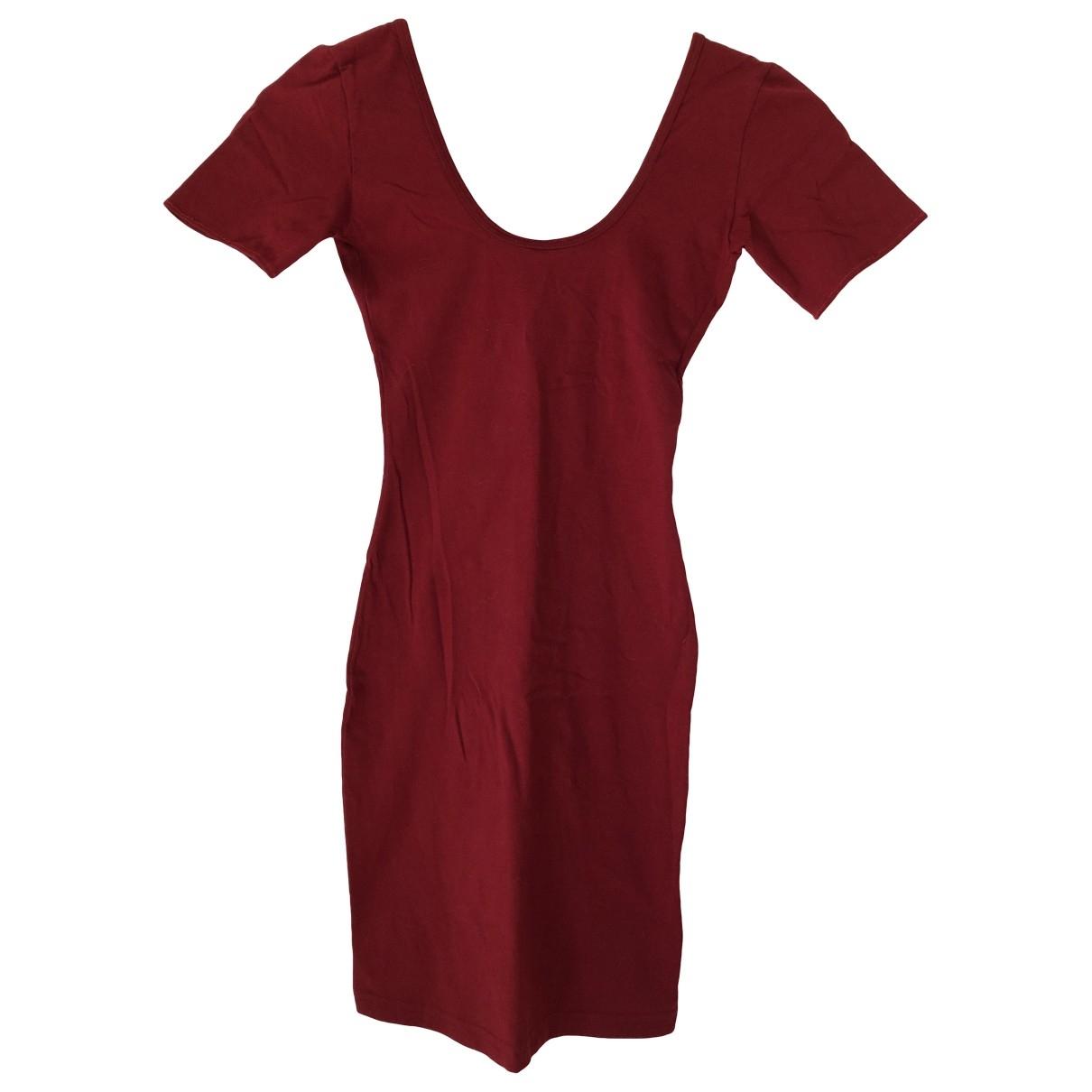 American Apparel \N Kleid in  Bordeauxrot Baumwolle - Elasthan