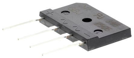 DiodesZetex Diodes Inc GBJ2506-F, Bridge Rectifier, 25A 600V, 4-Pin GBJ (15)