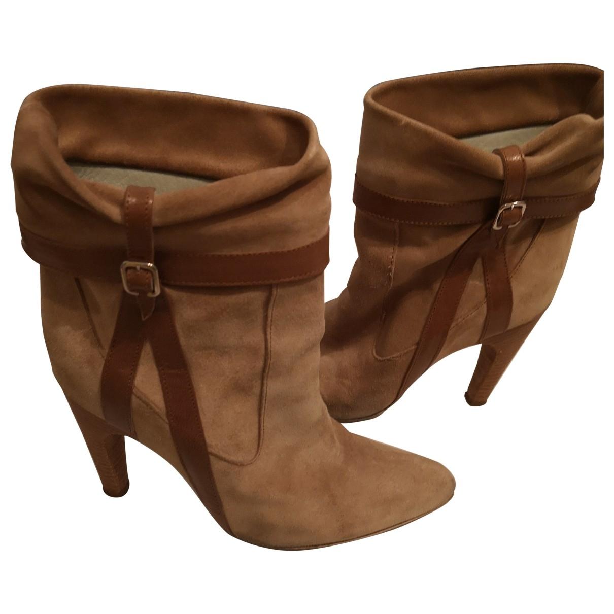 Sport Max - Boots   pour femme en suede - beige
