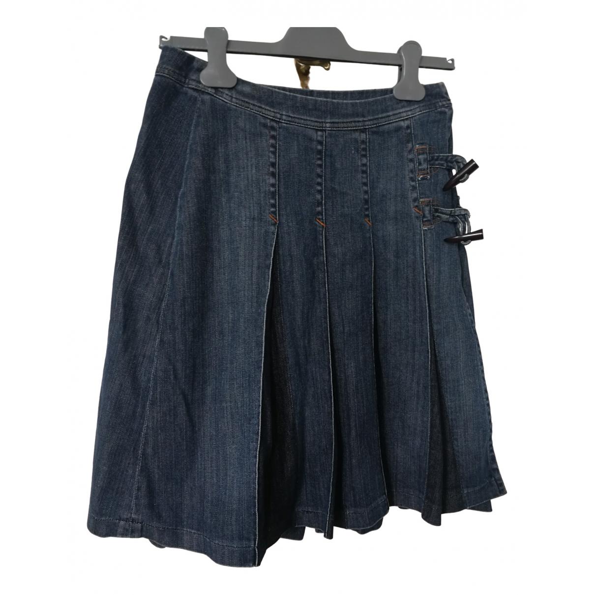 Schumacher \N Rocke in  Blau Denim - Jeans