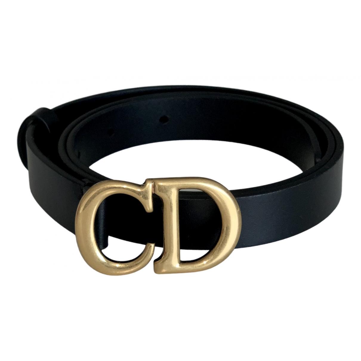Dior \N Black Leather belt for Women 75 cm