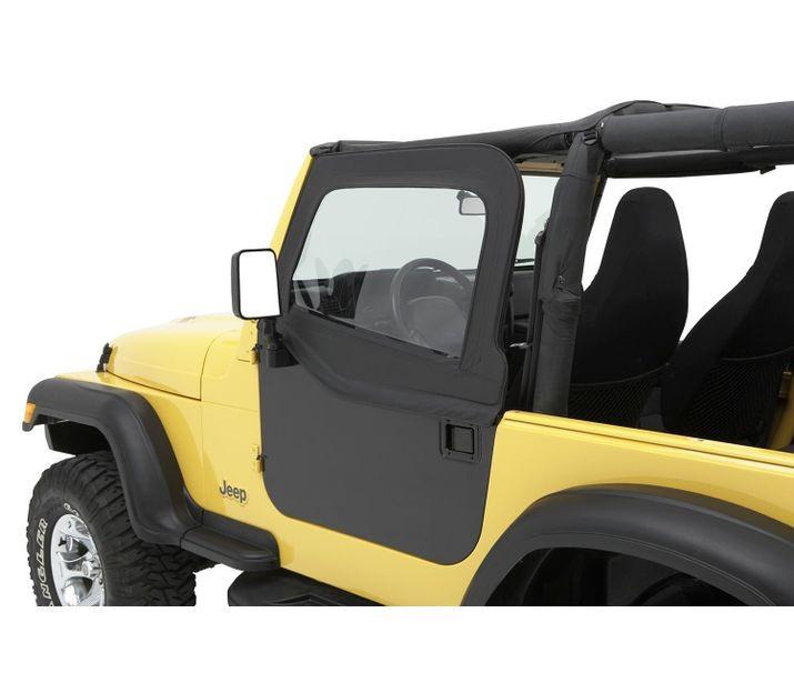 Bestop 51795-15 Black Denim Element Upper Fabric Half Doors Jeep Wrangler 1980-1995