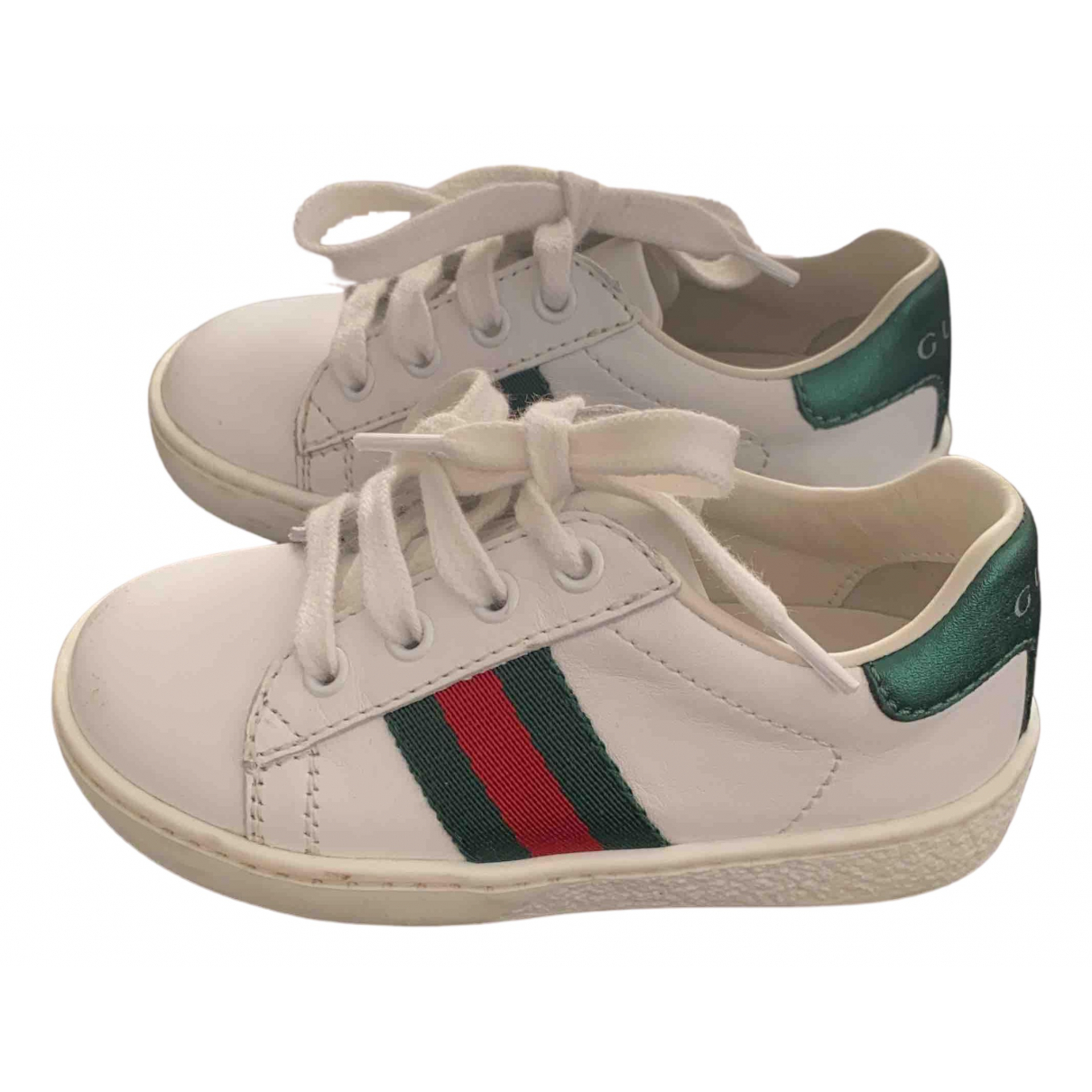 Gucci N White Leather Trainers for Kids 21 FR