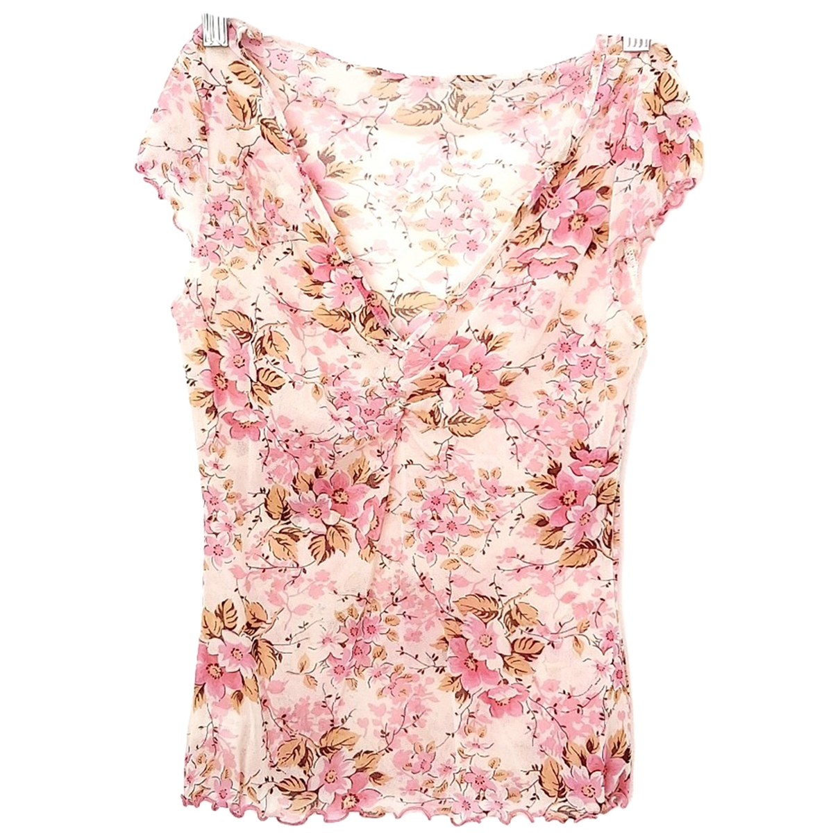 Non Signé / Unsigned Hippie Chic Pink  top for Women M International