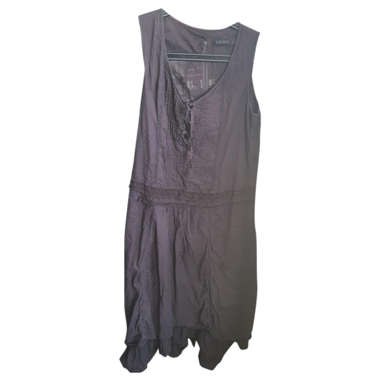 Ikks N Purple Cotton dress for Women 38 FR