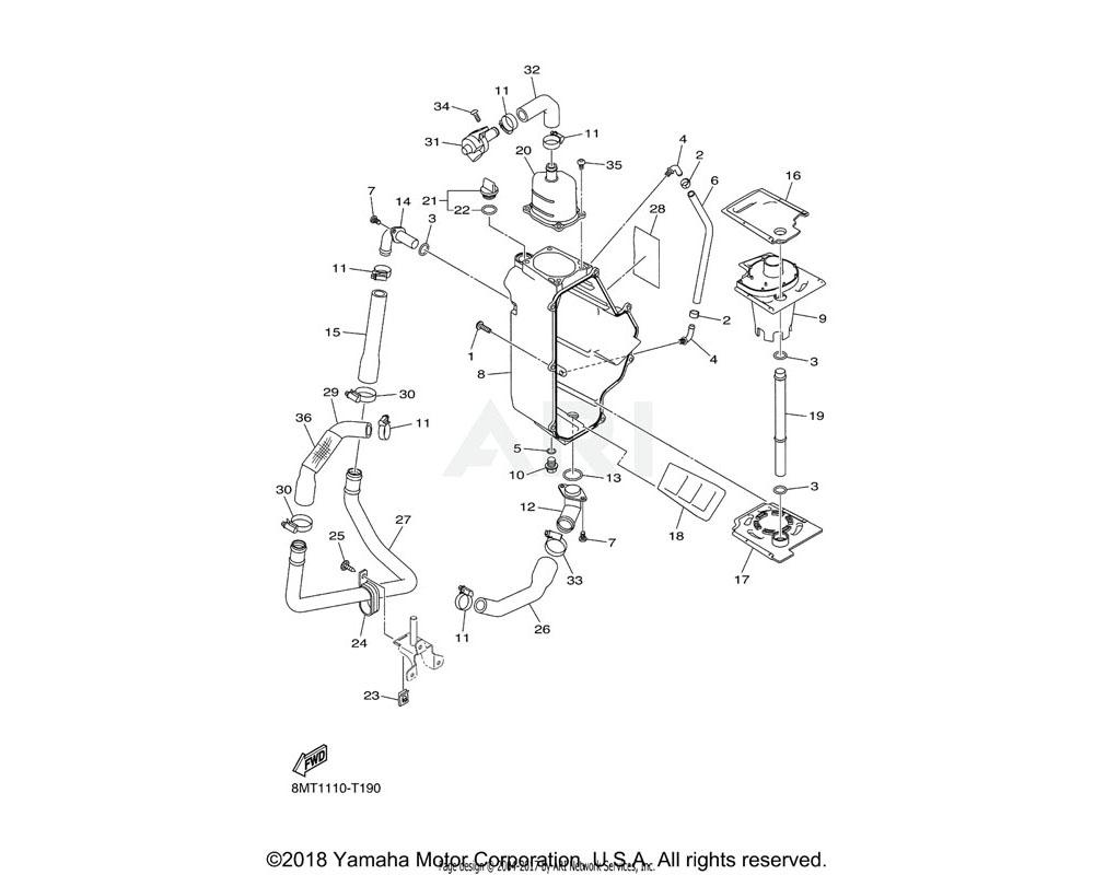Yamaha OEM 8KC-E3337-00-00 PLATE, BAFFLE LOWER