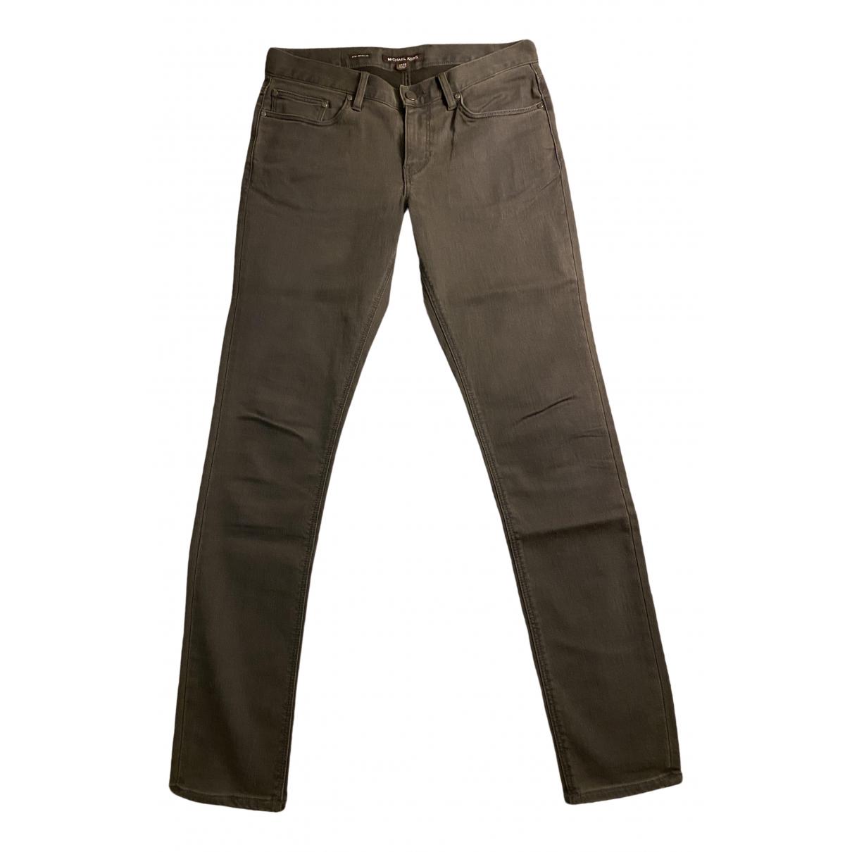 Michael Kors \N Grey Cotton - elasthane Jeans for Men 30 US