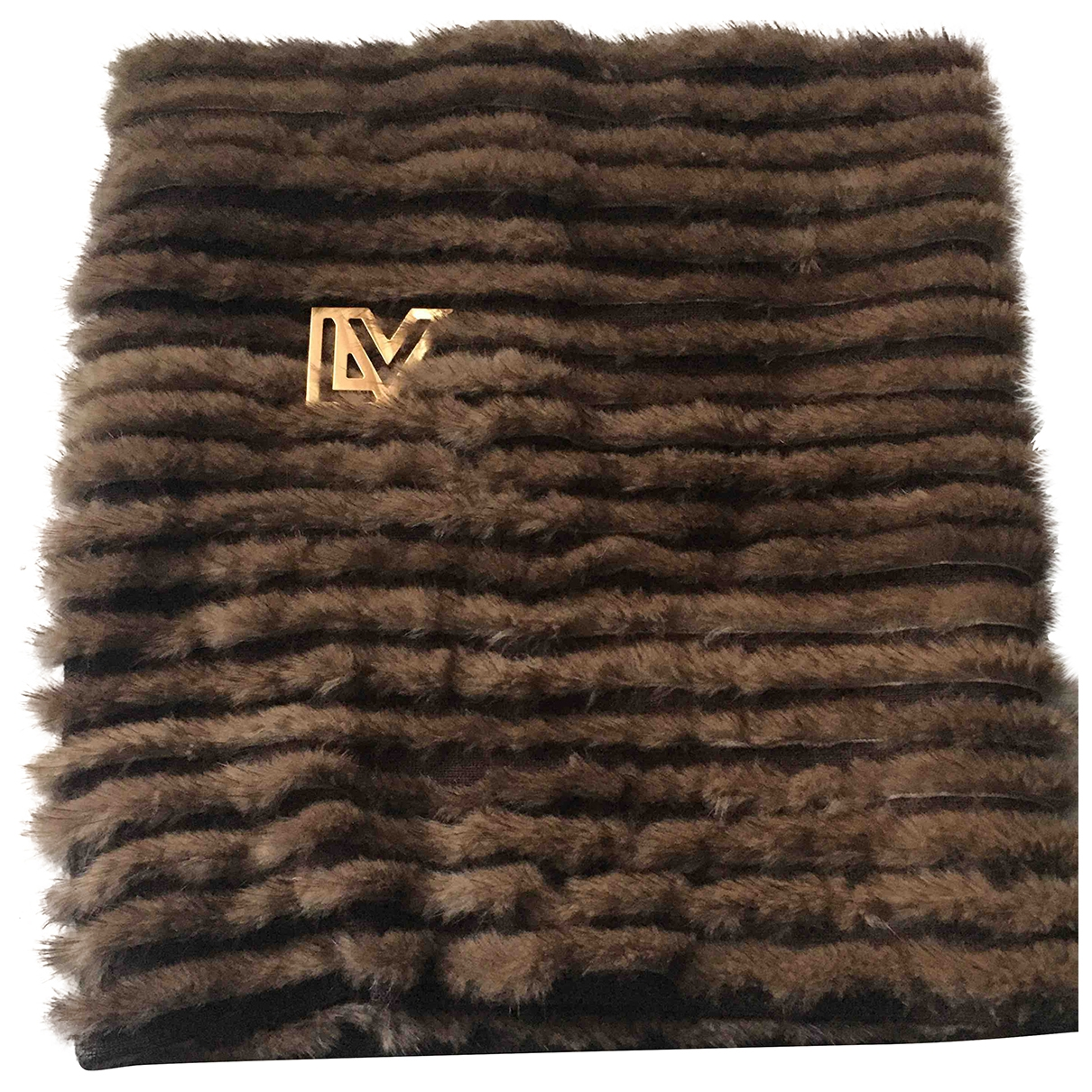 Louis Vuitton - Foulard   pour femme en vison - marron