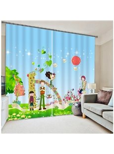 High Quality Kid's Cartoon Print 3D Blackout Curtain
