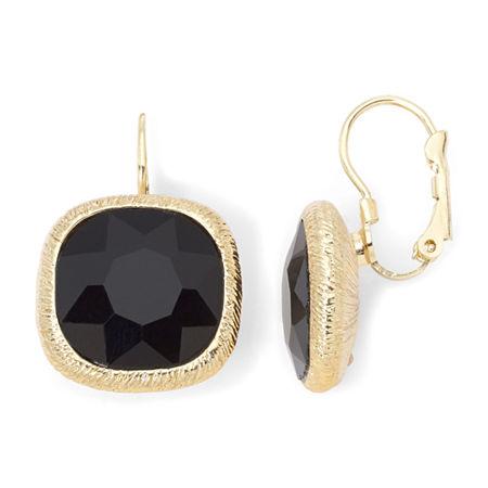 Monet Jet Black Drop Earrings, One Size , Black