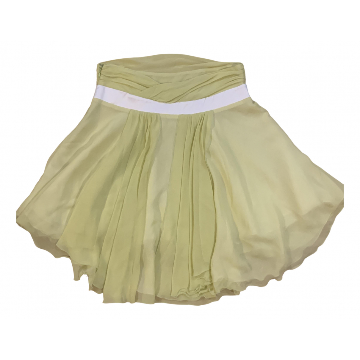 Versace Jeans \N Yellow Silk skirt for Women 42 IT