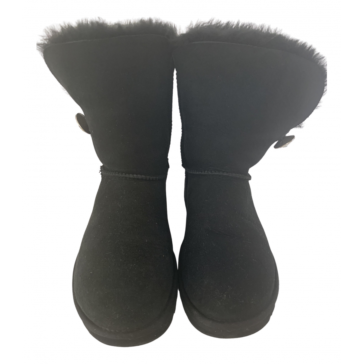 Ugg \N Stiefel in  Schwarz Veloursleder