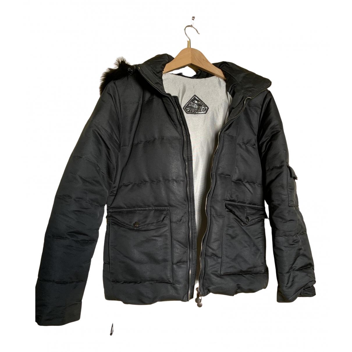 Pyrenex - Manteau   pour homme en toile - noir