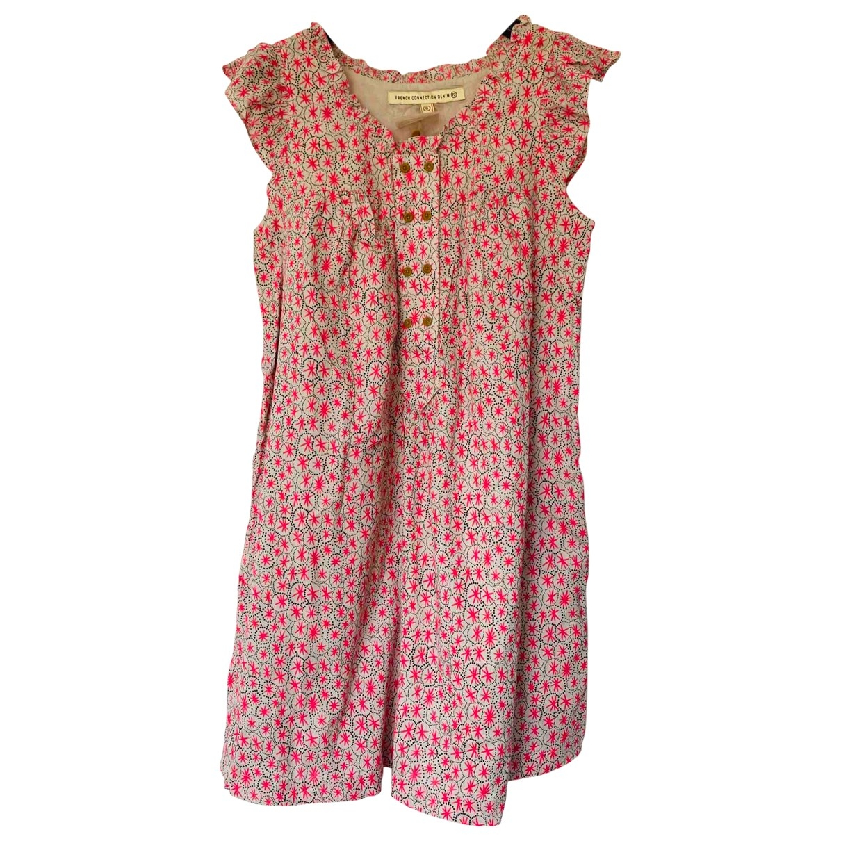 French Connection \N Pink Cotton dress for Women 12 UK