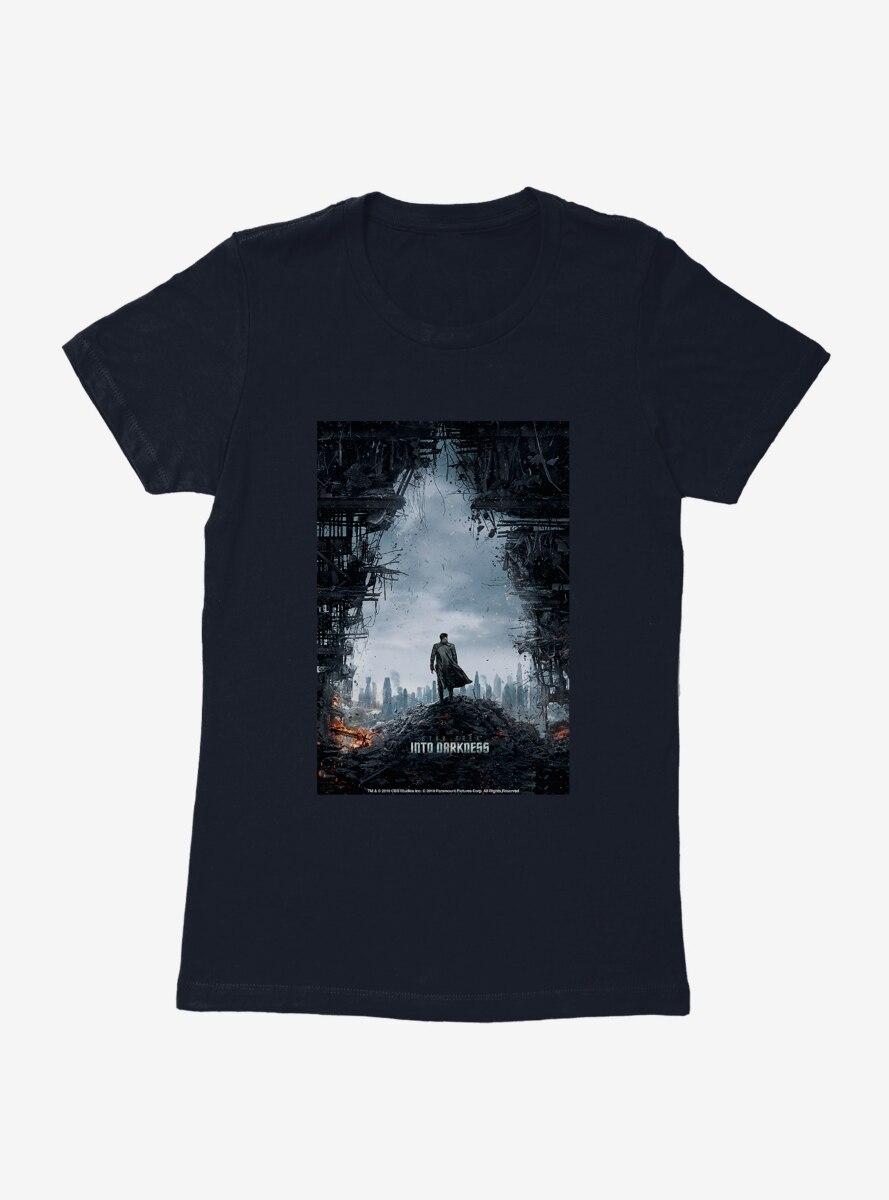 Star Trek Into Darkness Poster Womens T-Shirt