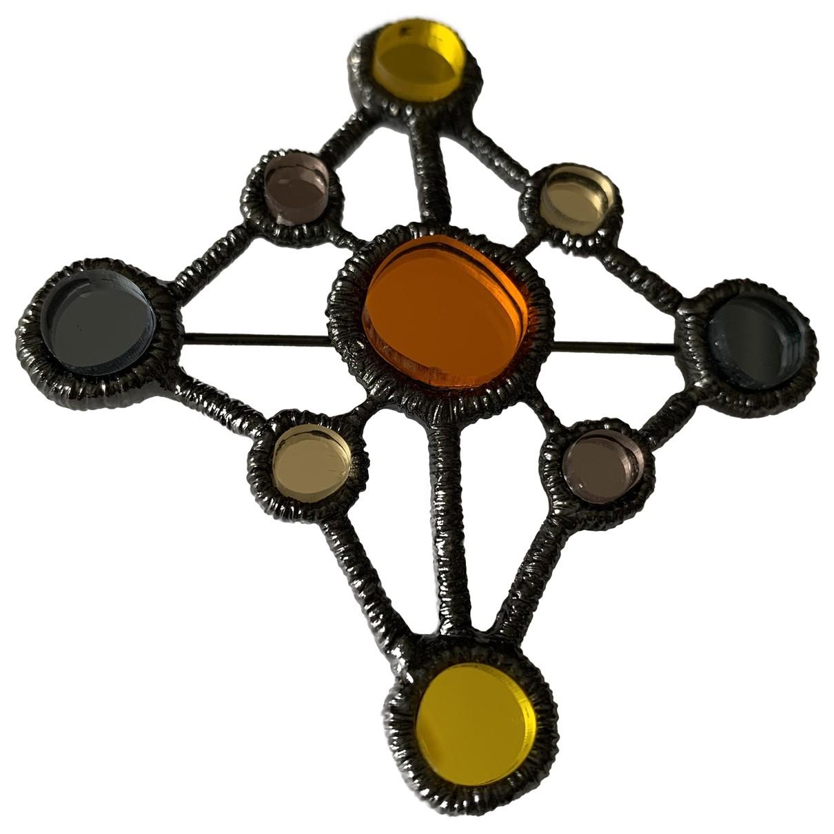 Salvatore Ferragamo N Anthracite Metal Pins & brooches for Women N