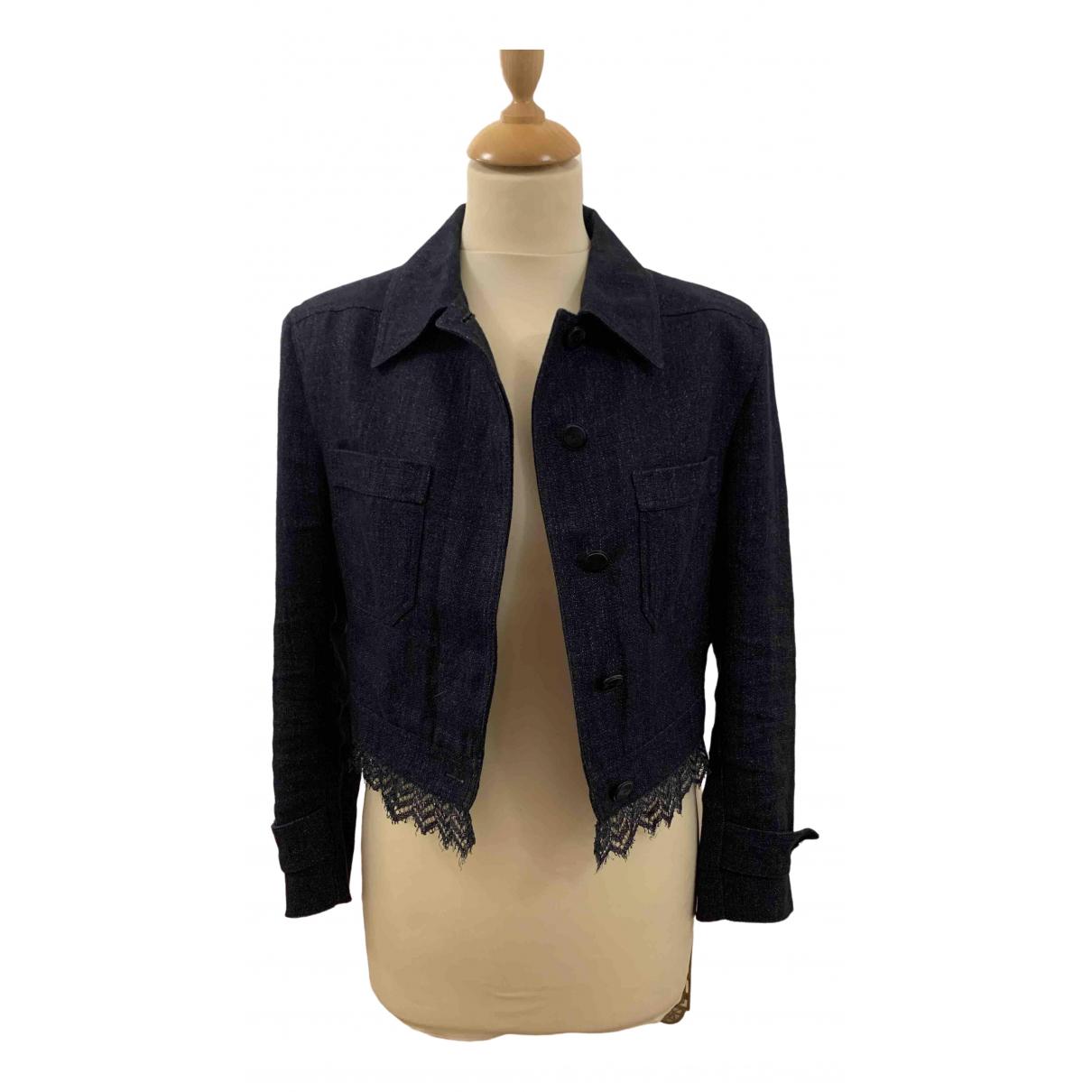 Chanel \N Navy Linen jacket for Women 36 FR