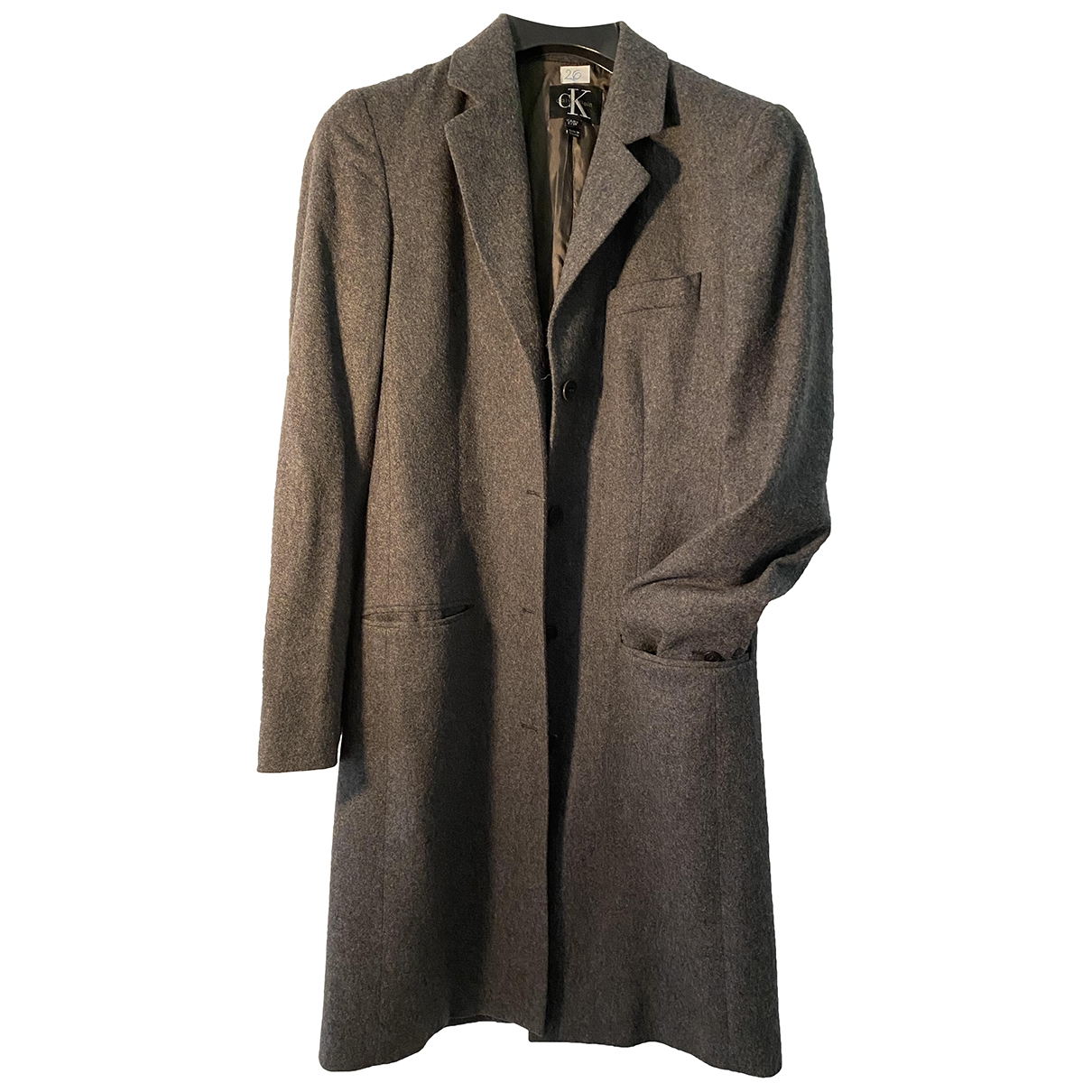 Calvin Klein \N Grey Wool coat for Women 38 IT