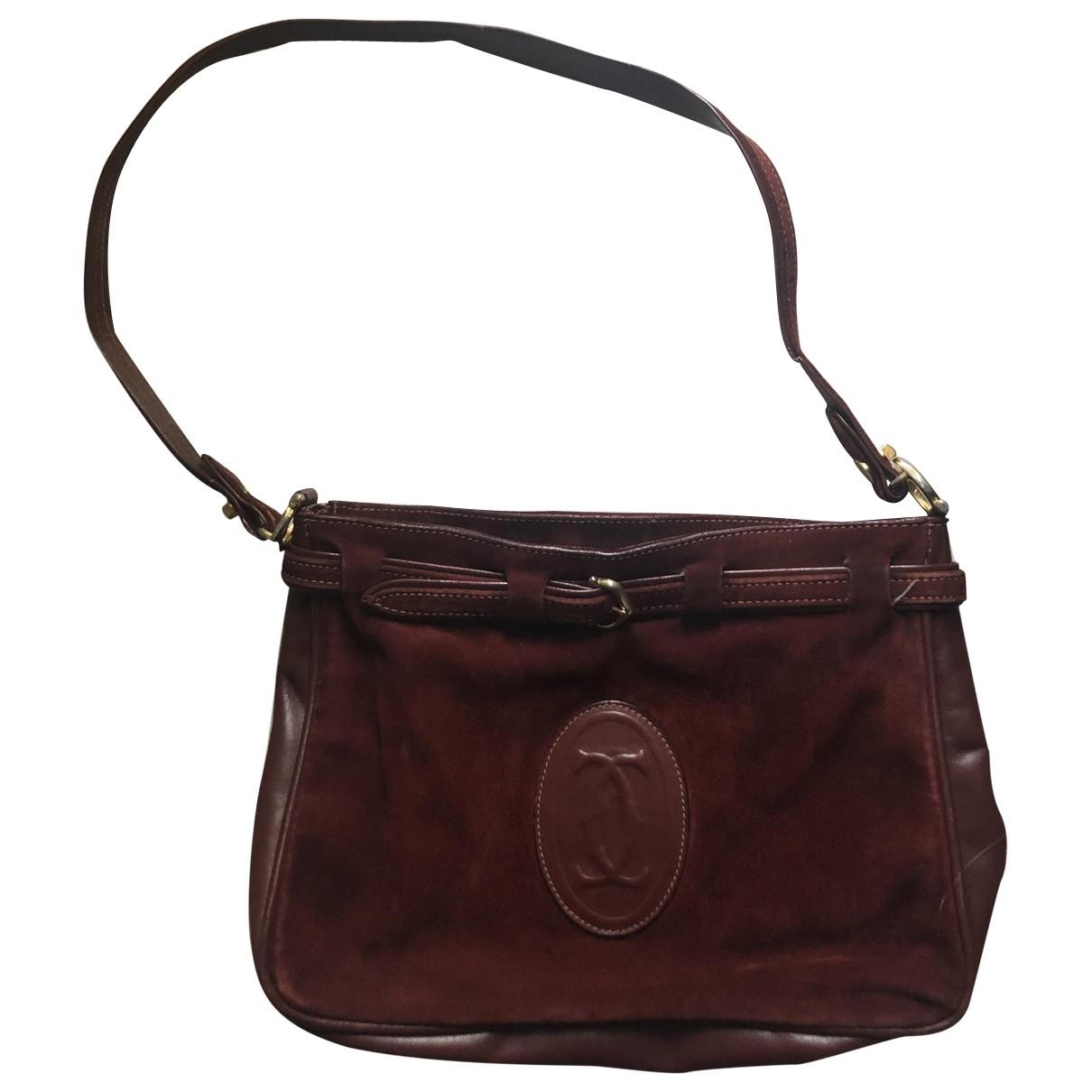 Cartier \N Burgundy Suede handbag for Women \N