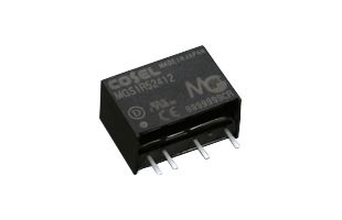 Cosel MGS 1.32W Isolated DC-DC Converter PCB Mount, Voltage in 4.5 → 9 V dc, Voltage out 3.3V dc