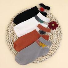 4 Paare Socken mit Herzen Muster