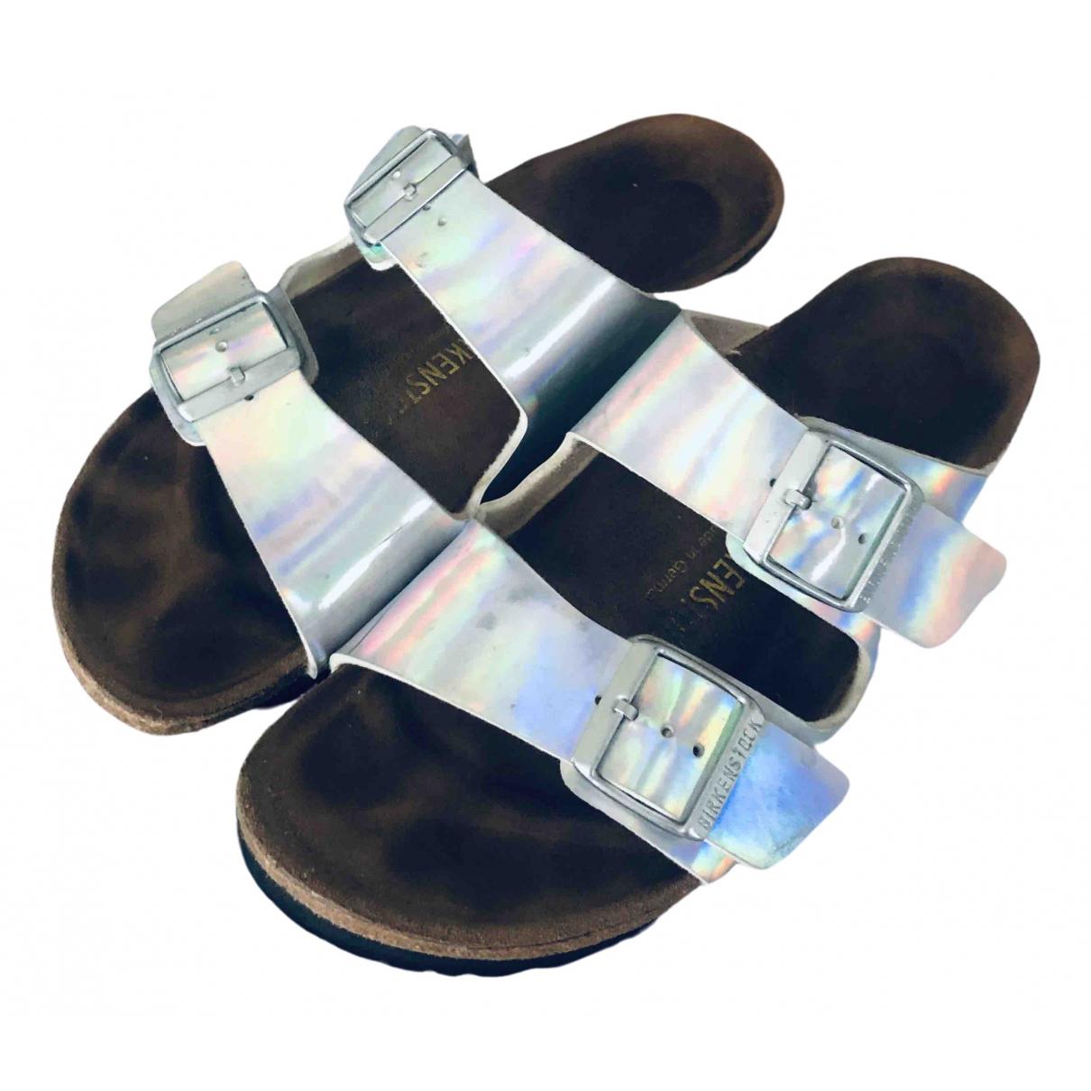 Birkenstock \N Silver Patent leather Sandals for Women 39 EU