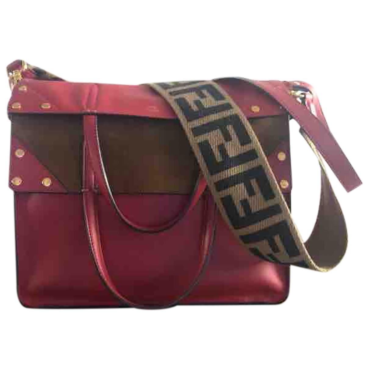 Fendi Flip Red Leather handbag for Women \N