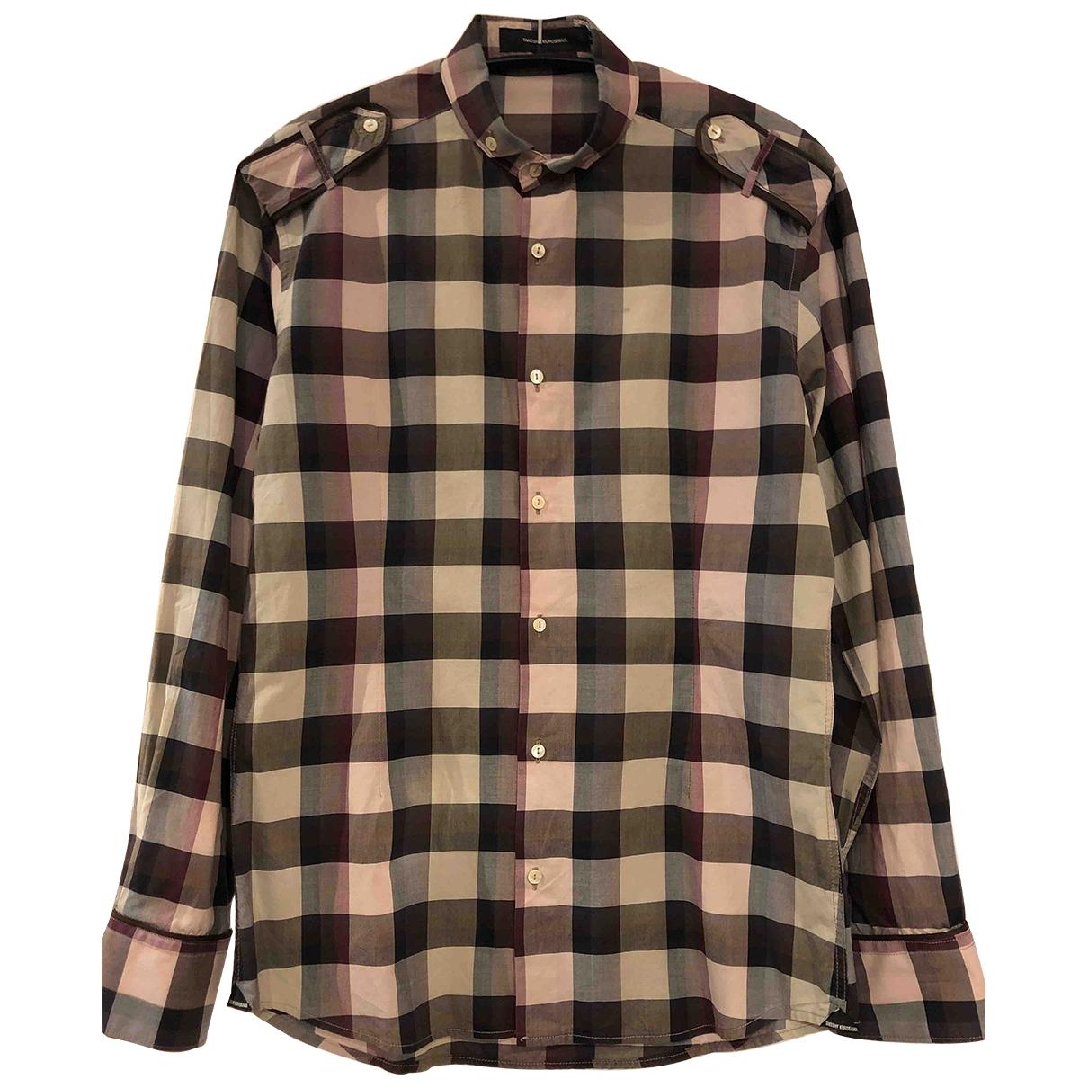- Chemises Epaulettes pour homme en coton - bordeaux