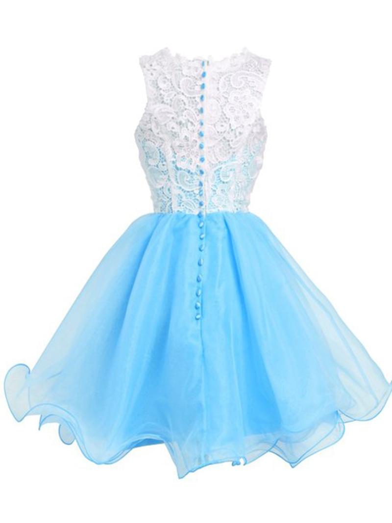 Ericdress Ruffles Lace Short A-Line Homecoming Dress