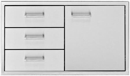 DHDD363-B 36 Built-In Door with 3 Drawers  304 Stainless Steel Construction  and One-piece 18 Gauge Frame  in Stainless
