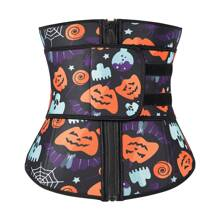 Halloween Pumpkin Print Waist Trainer Shapewear