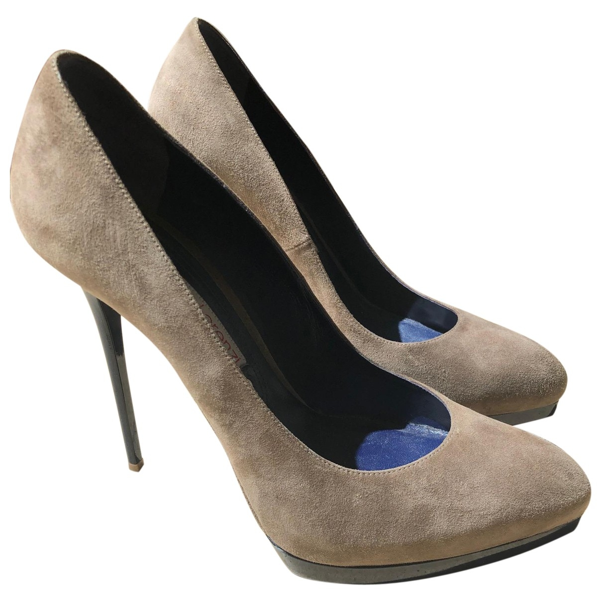 Gianmarco Lorenzi \N Beige Suede Heels for Women 40.5 EU