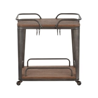 Carbon Loft Samira Metal/ Wood Industrial Bar Cart - N/A (Antique/Espresso)