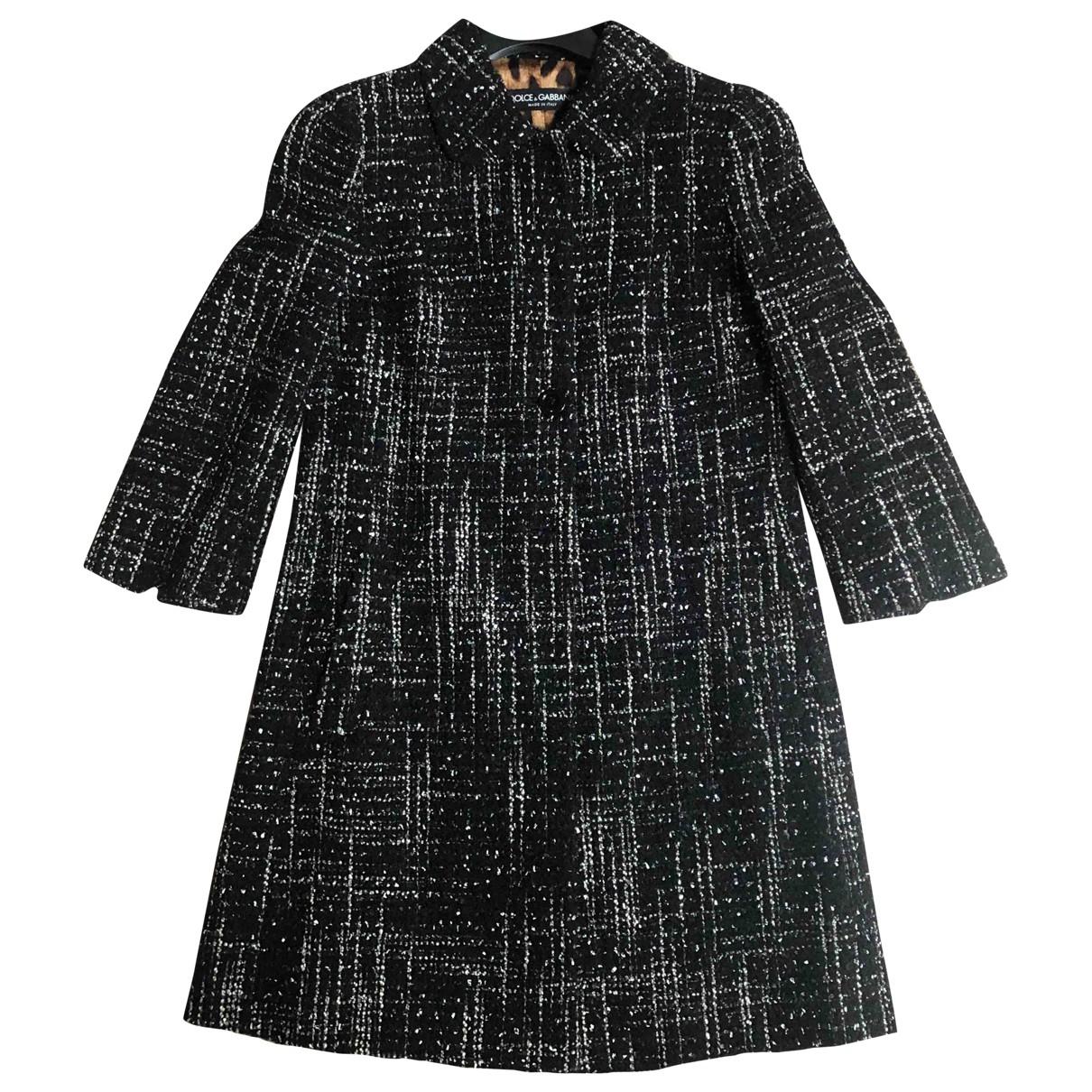 Dolce & Gabbana - Manteau   pour femme en laine - noir