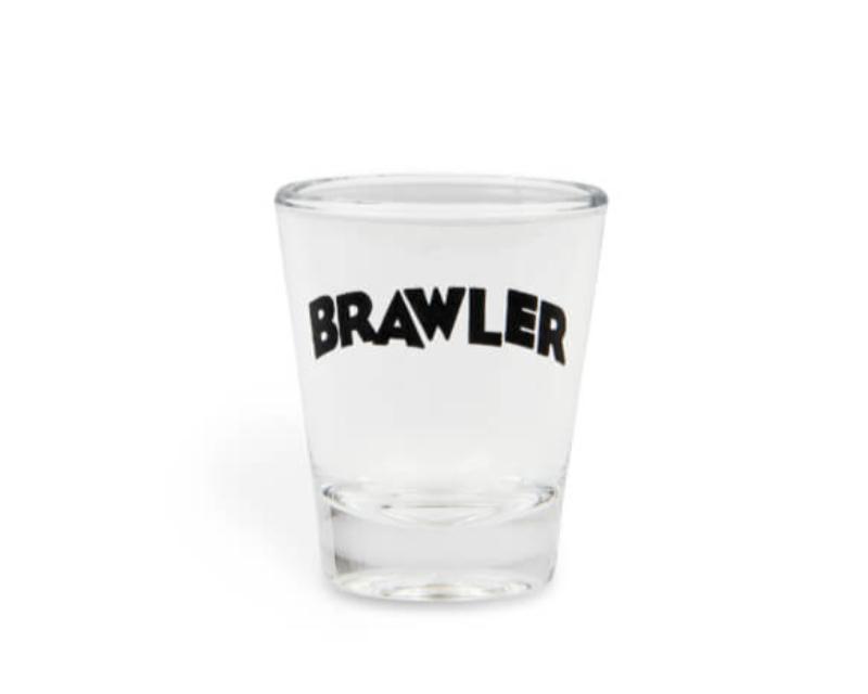 Holley 36-483 2 OZ SHOT GLASS W/ BRAWLER LOGO