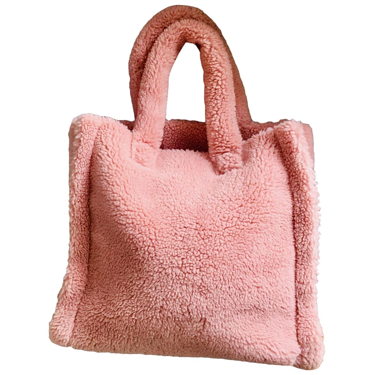 Stand Studio N Pink Faux fur handbag for Women N