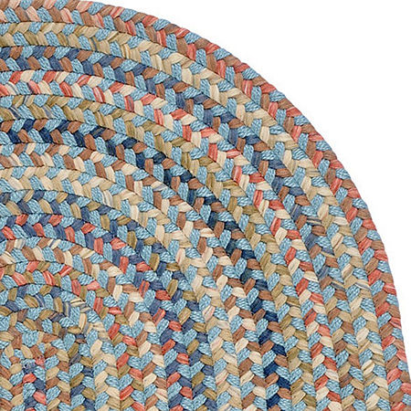Colonial Mills Ashburn Reversible Braided Oval Rug, One Size , Blue