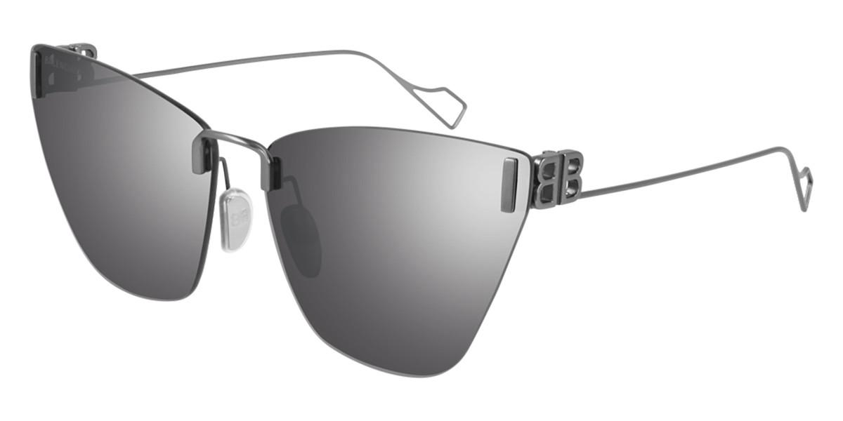 Balenciaga BB0111S 002 Women's Sunglasses Silver Size 63