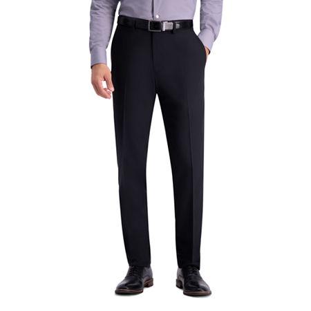 Haggar Active Series Suit Separate Pant Slim Fit Stretch Suit Pants, 30 32, Black
