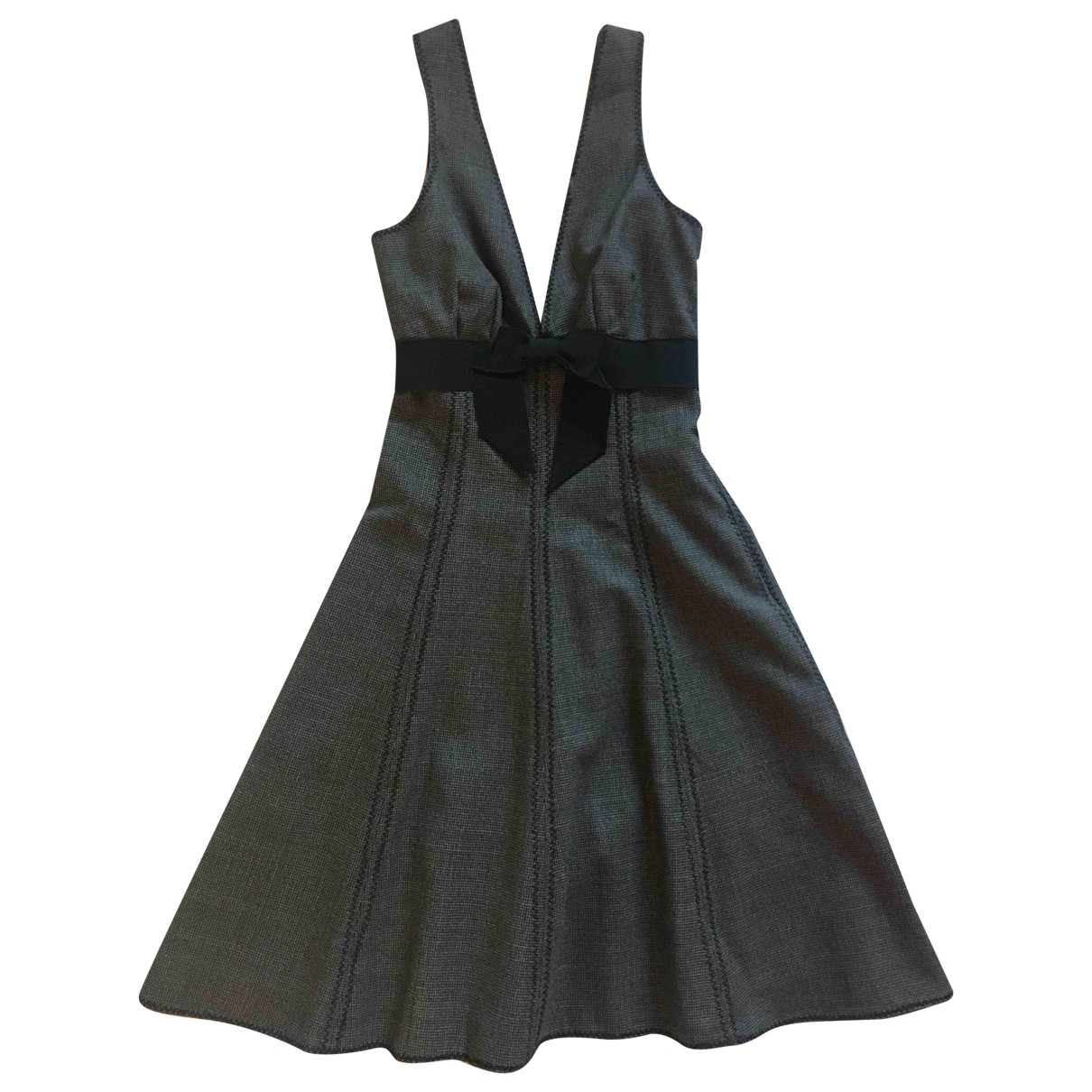 Moschino Cheap And Chic \N Kleid in  Grau Wolle