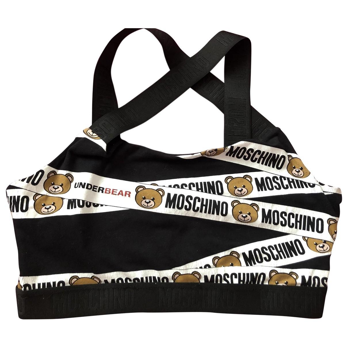 Moschino \N Top in  Schwarz Baumwolle