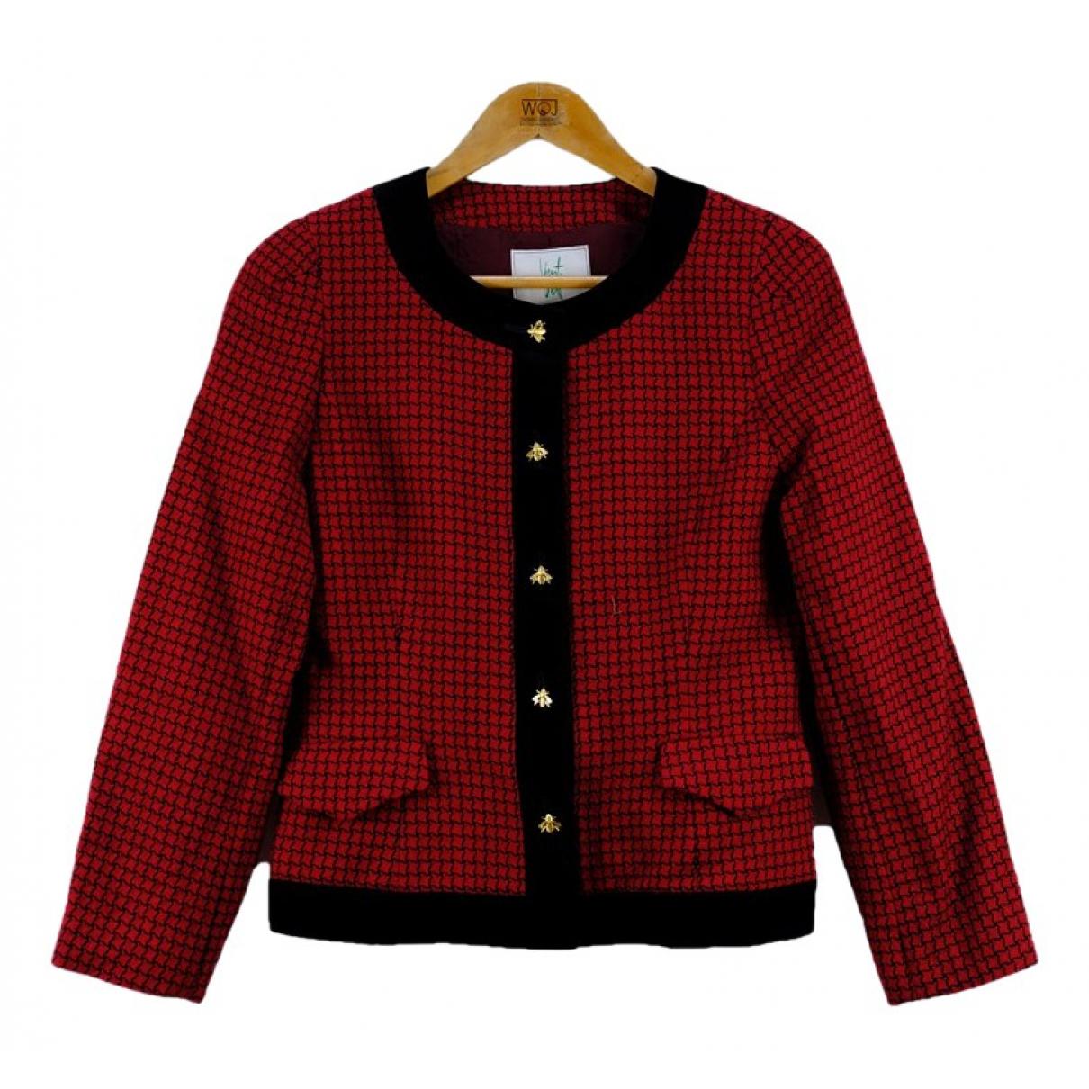 Pierre Balmain \N Red Wool jacket for Women M International