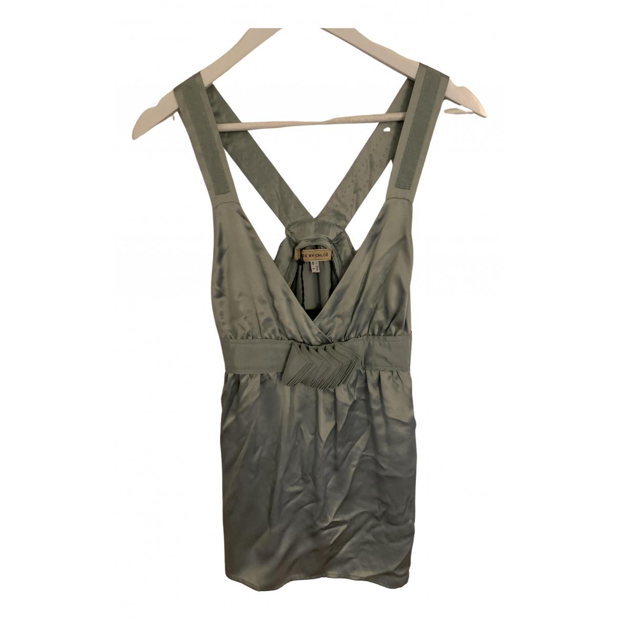 See By Chloé N Blue Silk  top for Women 38 FR