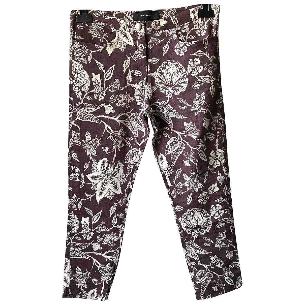 Isabel Marant \N Multicolour Cotton Trousers for Women 38 FR