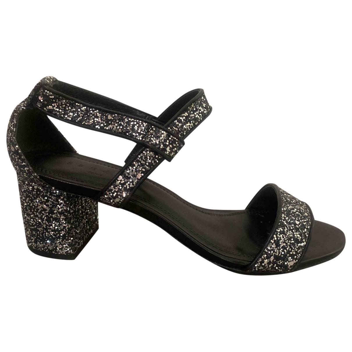 Sandro \N Silver Glitter Sandals for Women 39 EU